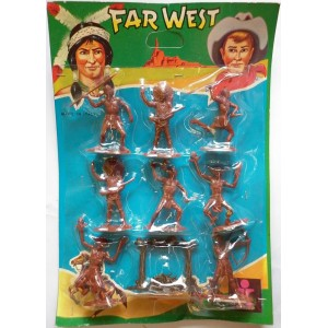 Dulcop Far West indian toy soldiers 1/32