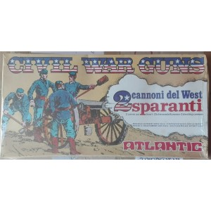 Soldatini Atlantic cannoni sparanti Civil War Guns 1/32