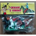 Luca Cowboys with horses toy soldiers 1/32
