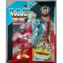 WWF personaggio Wrestling Macho Man Randy Savage con gomitata 1990