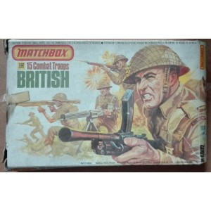 Matchbox British combat troops soldiers 1/32 1976