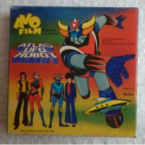 Avo film Atlas Ufo Robot Goldrake Super 8 Alcor contro i mini dischi 1978