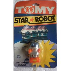 Tomy Star Robot retrocarica wind up anni 70 2