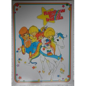 Rainbow Brite lined exercise book 1984