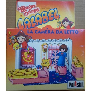 Polistil bambola Lalabel playset camera letto 1981
