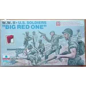 Esci soldatini seconda guerra mondiale americani Big Red One 1/72