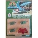 Kenner Mega Force Triax army Anti Aircraft Tanks con riparo blindato 1989