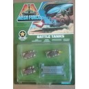 Kenner Mega Force V-Rocs army Battle Tanks con ponte blindato 1989