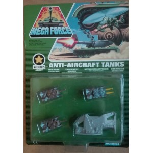 Kenner Mega Force V-Rocs army Anti Aircraft Tanks con rifugio corazzato 1989