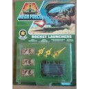 Kenner Mega Force V-Rocs army Rocket Launchers con muro corazzato 1989