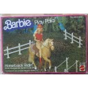 Mattel Barbie Play Pack set Horseback ridin' cavallerizza 1982