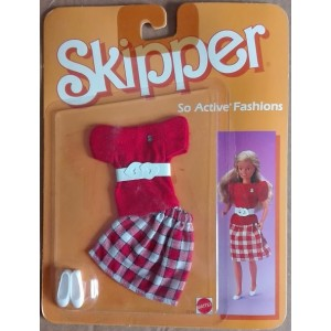 Barbie 2234 Skipper So Active fashion red outfit 1985