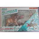 Dino Riders Ice Age Warthog with Zar caveman figure 1987