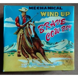 Wind up cowboy a cavallo latta Mikuni giapponese vintage