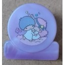 Sanrio vintage Little Twin Stars mini clip viola made Japan