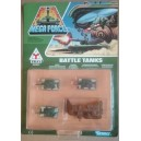Kenner Mega Force Triax army Battle Tanks con bunker corazzato 1989